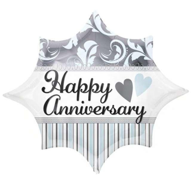 "Balon foliowy ""Happy Anniversary"", AMSCAN, 20"" STR"