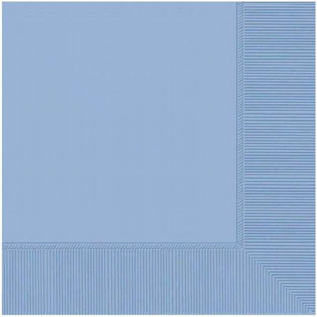 """Serwetki """"Gładkie"""", niebieskie pastelowe, AMSCAN, 33 cm, 50 szt"""