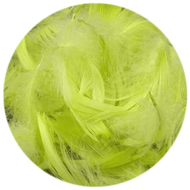 Piórka dekoracyjne, zielone jabłuszko, woreczek