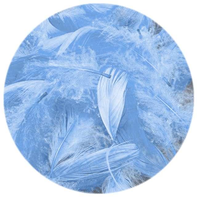 Piórka dekoracyjne, niebieskie, woreczek