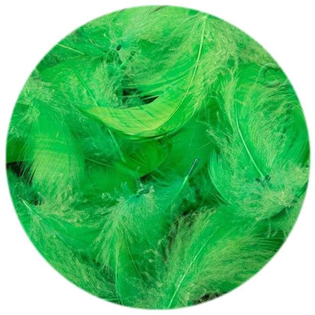 Piórka dekoracyjne, zielone, woreczek
