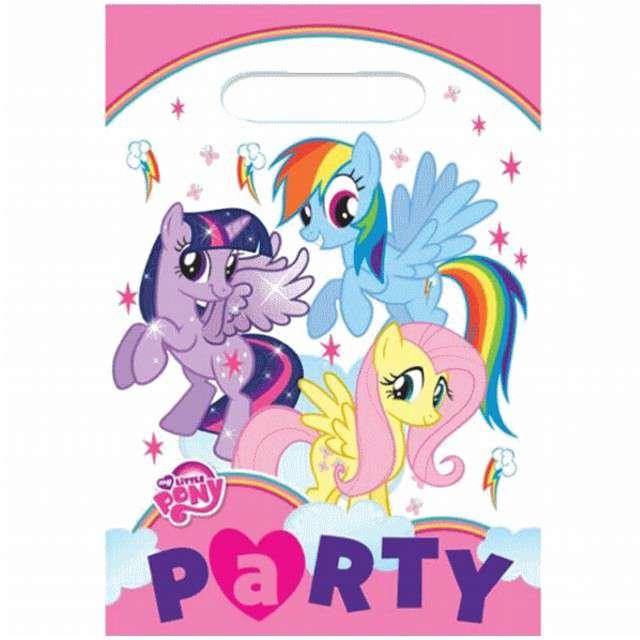 """Torebki foliowe """"My Little Pony"""", AMSCAN, 8 szt"""