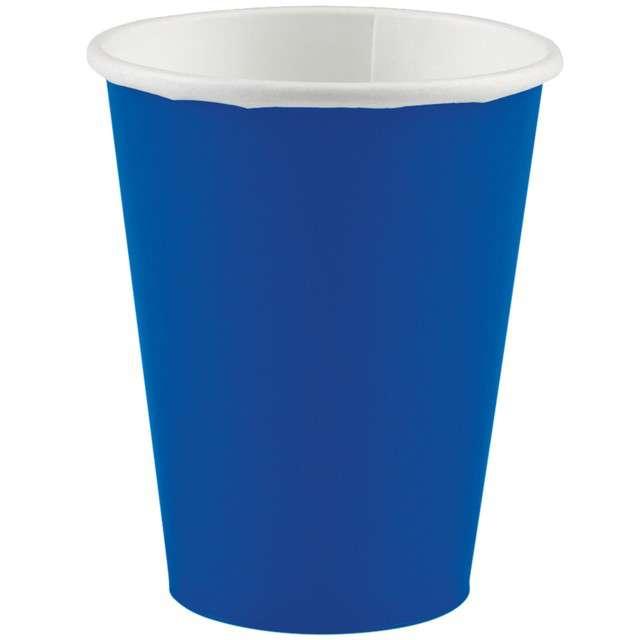"""Kubeczki papierowe """"Premium"""", AMSCAN, niebieski, 266 ml, 20 szt"""