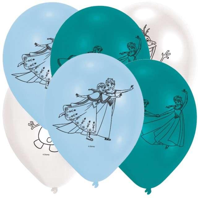 """Balony """"Frozen - Kraina Lodu"""", pastel mix, AMSCAN, 9"""", 6 szt"""
