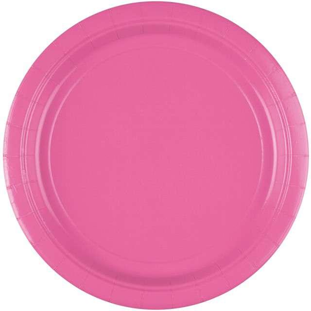 """Talerzyki papierowe """"Premium AMSCAN L"""", różowe, 22,8 cm, 8 szt"""
