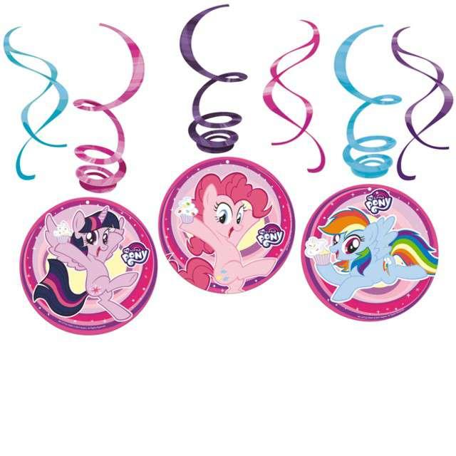 """Świderki wiszące """"My Little Pony"""", AMSCAN, 6 szt"""