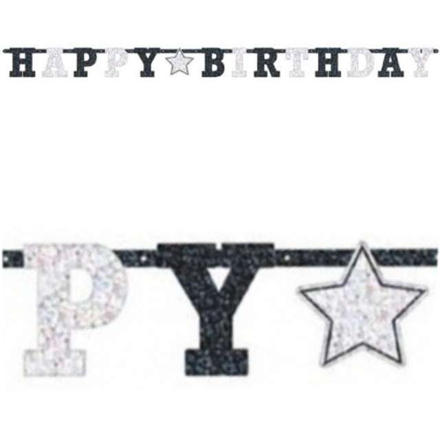 "Girlanda ""Happy Birthday - STAR"", AMSCAN, 240 cm"
