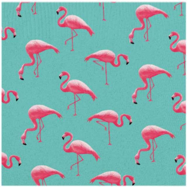 """Serwetki """"Flamingi"""", AMSCAN, 33 cm, 20 szt"""