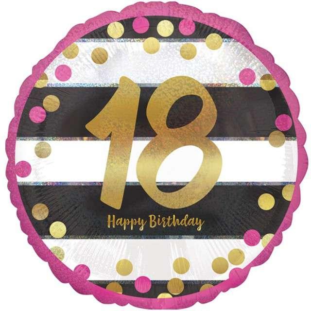 Balon foliowy 18 Urodziny - Milestone AMSCAN 17 CIR