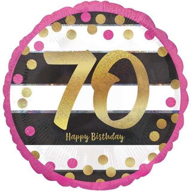 """Balon foliowy """"70 Urodziny - Milestone"""", AMSCAN, 17"""" CIR"""