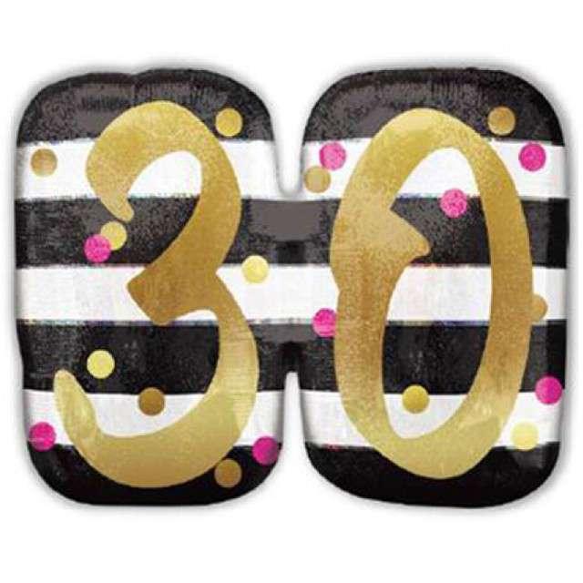 Balon foliowy 30 Urodziny - Milestone AMSCAN 25 SHP