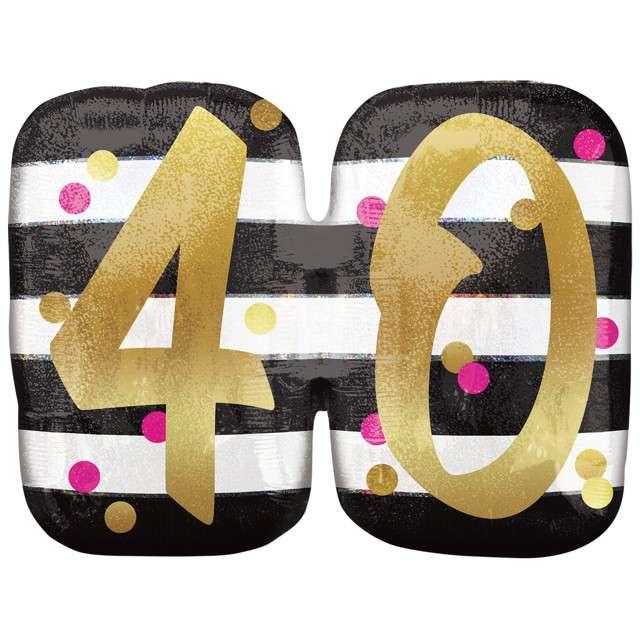 """Balon foliowy """"40 Urodziny - Milestone"""", AMSCAN, 25"""" SHP"""