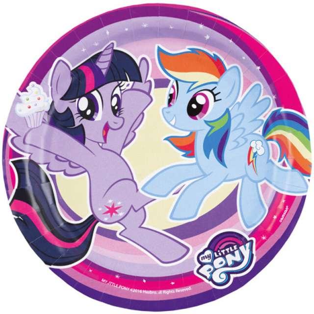 """Talerzyki papierowe """"My Little Pony"""", 18 cm, 8 szt"""