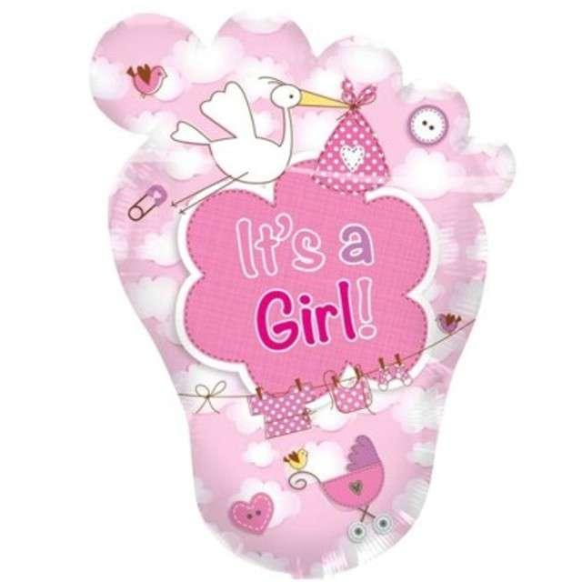 """Balon foliowy """"Its a Girl"""", różowy, FOLAT, 28"""" SHP"""