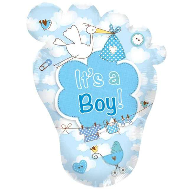 "Balon foliowy ""Its a Boy"", błękitny, FOLAT, 28"" SHP"