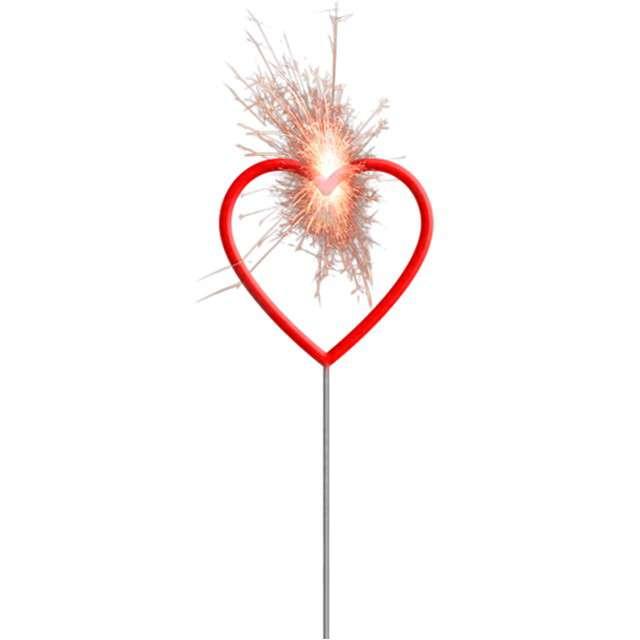 """Zimne ognie """"Serce"""", czerwony, FOLAT, 30 cm"""