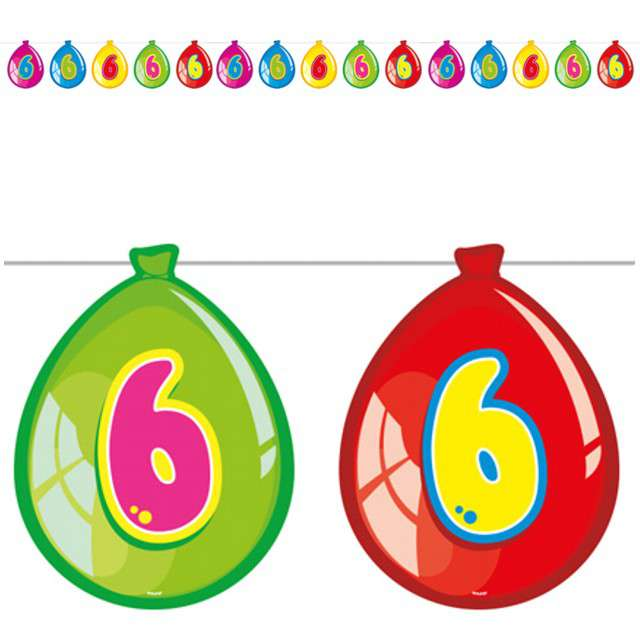 "Baner ""6 urodziny baloniki"", FOLAT, 10 m"