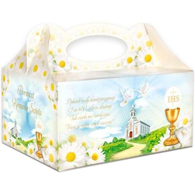 """Pudełko na ciasto """"Komunia IHS Margaretki"""", 5 szt"""