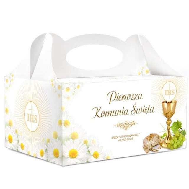 """Pudełko na ciasto """"Komunia IHS"""", 5 szt"""