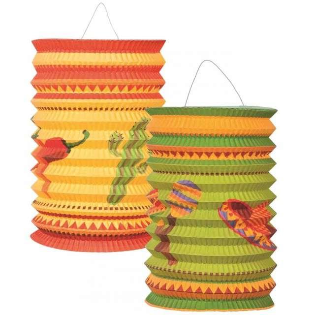"""Lampion papierowy """"Meksykańskie Party"""", BOLAND, 25 cm, 2 szt"""