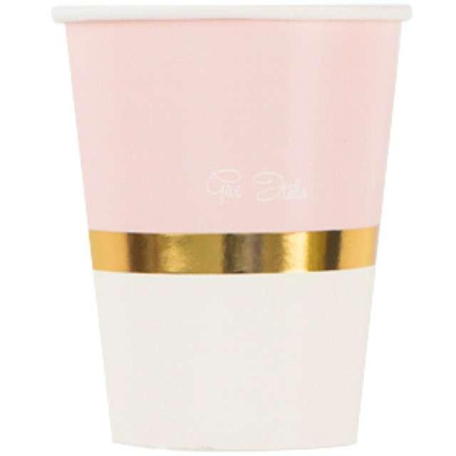 Kubeczki papierowe Chic Pink GIVI ITALIA 250 ml 8szt
