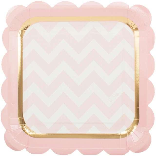 """Talerzyki papierowe """"Chic Pink"""", GIVI ITALIA, 23 cm, 8 szt"""