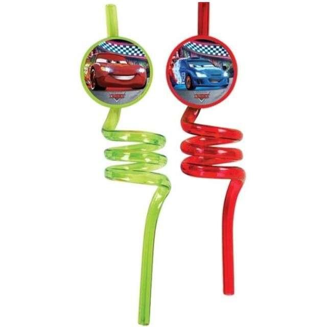 """Słomki """"CARS - AUTA"""", spiralne, PROCOS, 25 cm, 2 szt"""