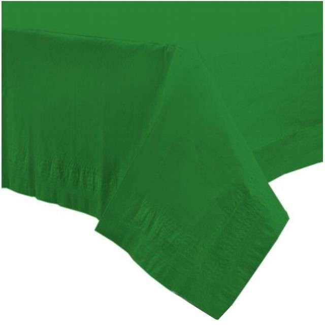 """Obrus papierowy """"Premium"""", zielony, AMSCAN, 274 x 137 cm"""