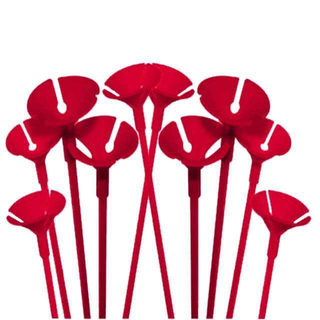 Patyczki z zatyczkami, 40 cm, czerwony, FOLAT, 10 szt