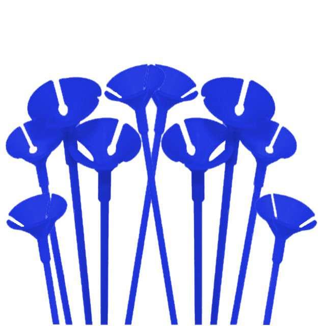 Patyczki z zatyczkami, 40 cm, niebieski, FOLAT, 10 szt