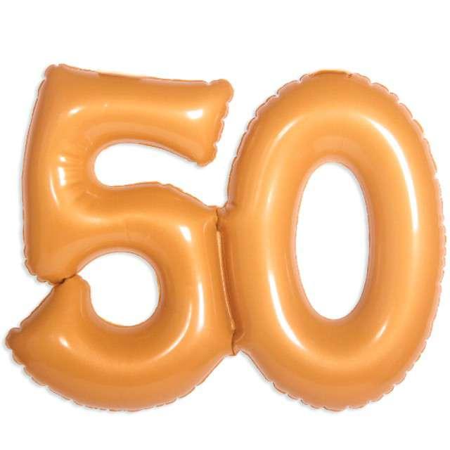 """Balon foliowy """"50 Urodziny - złoty"""", FOLAT, 14"""" SHP"""