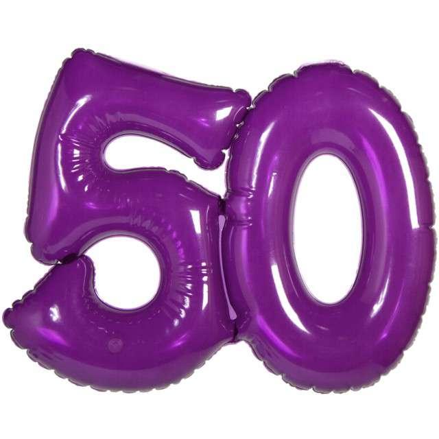 """Balon foliowy """"50 Urodziny - fioletowy"""", FOLAT, 14"""" SHP"""