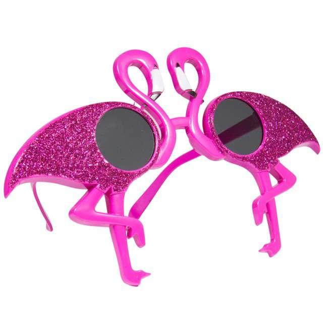 "Okulary party ""Flamingi"", różowe, FOLAT"