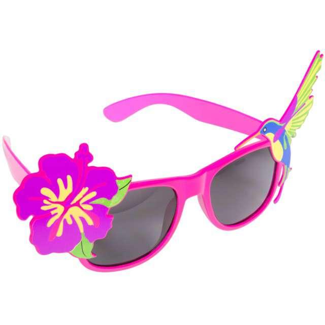 """Okulary party """"Hawajskie"""", różowe, FOLAT"""