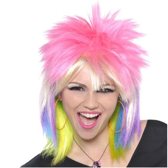 """Peruka party """"Neon Punk"""", AMSCAN"""