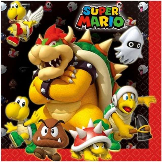 "Serwetki ""Super Mario"", AMSCAN, 33 cm, 20 szt"