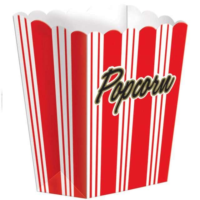 """Pudełka na popcorn """"Popcorn - Paski"""", czerwone, 8 szt"""