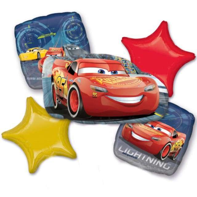 "Balon foliowy ""CARS - Zygzak McQueen"", AMSCAN, zestaw"