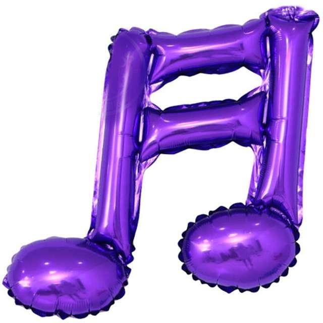 """Balon foliowy """"Nuta podwójna"""", fioletowy, 16"""" SHP"""