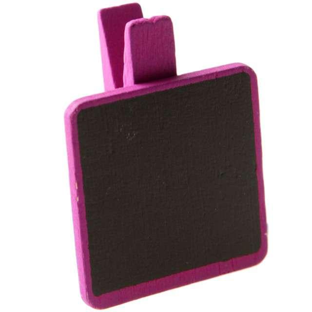 """Tabliczka dekoracyjna """"Classic - kwadratowa"""", różowy, SANTEX, 6 szt"""