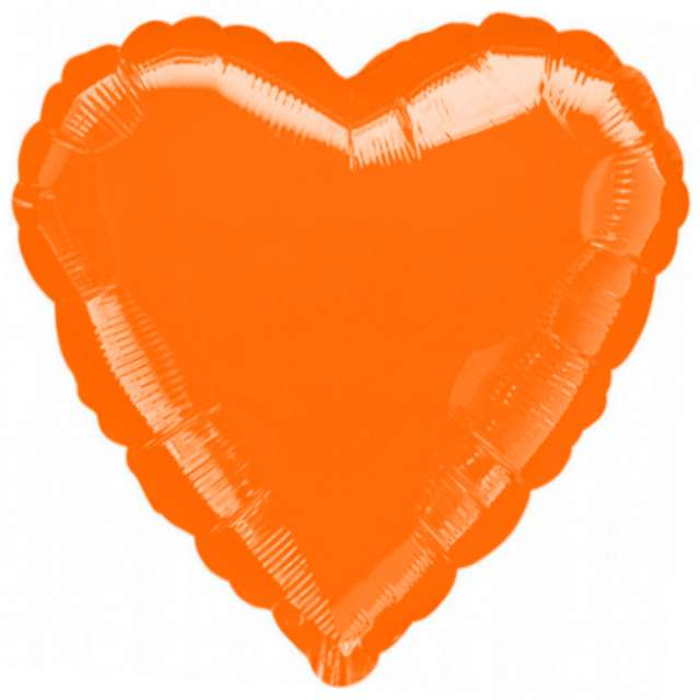 "Balon foliowy ""Serce"", pomarańczowe, AMSCAN, 18"" HRT"