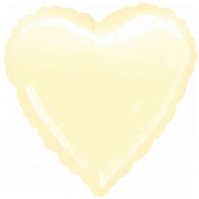 Balon foliowy Serce kremowy AMSCAN 18 HRT