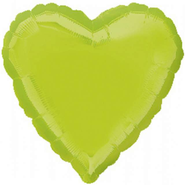 """Balon foliowy """"Serce"""", zielone jabłuszko, AMSCAN, 18"""" HRT"""