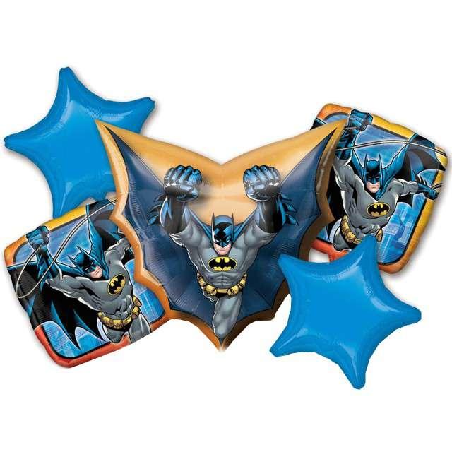 """Balon foliowy """"Batman"""", AMSCAN, zestaw"""