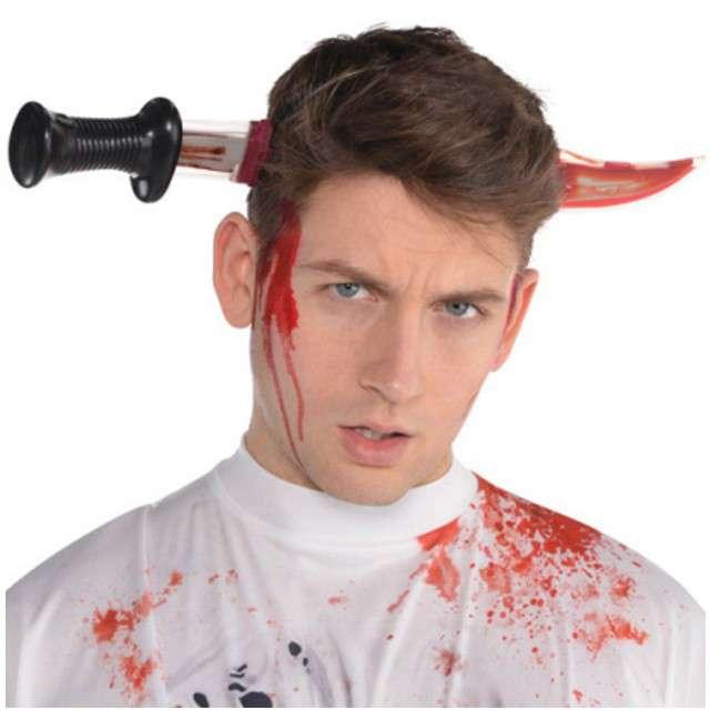 """Opaska party """"Krwawy Nóż w głowie"""", plastikowy, Amscan"""