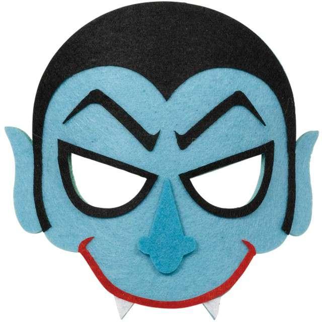 "Maska ""Niebieski Wampirek"", filcowa, AMSCAN"