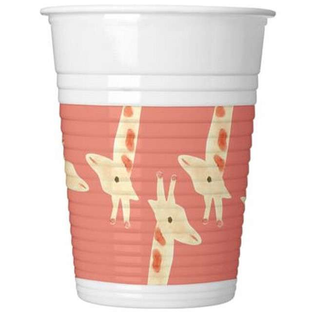 "Kubeczki plastikowe ""Safari"", PROCOS, 200 ml, 8 szt"