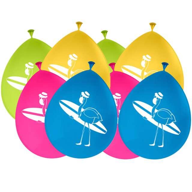 """Balony """"Flamingi"""", mix, FOLAT, 12"""", 8 szt"""