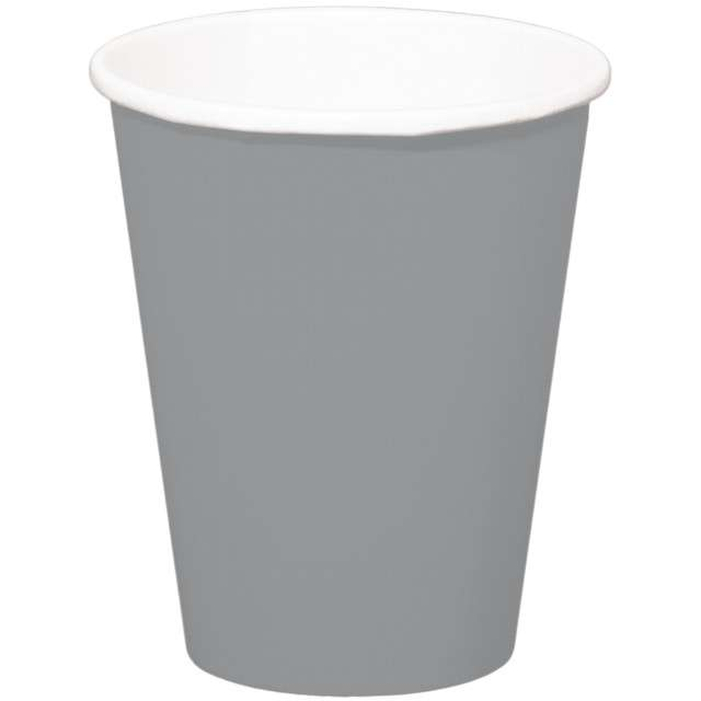 """Kubeczki papierowe """"Classic XL"""", srebrne, FOLAT, 350 ml, 8 szt"""