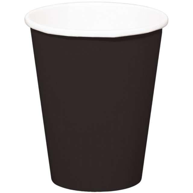 """Kubeczki papierowe """"Classic XL"""", czarne, FOLAT, 350 ml, 8 szt"""